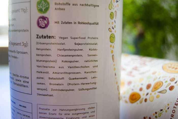 Vegan Protein Zutaten