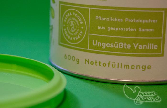 Proteinpulver ohne Süßungsittel von Organic Alpha
